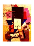 Composition with the Mona Lisa, 1914 Giclée-tryk af Kasimir Malevich