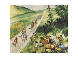 Roman Road Giclee Print by Don Lawrence