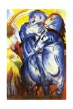 A Tower of Blue Horses, 1913 Giclee Print by Franz Marc
