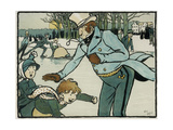 Old English Sports and Games: Skating, 1901 Impression giclée par Cecil Aldin