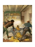 Little John Fights with the Cook in the Sheriff's House Giclee Print by Newell Convers Wyeth