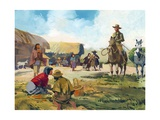 Tschiffely in the Desert Country of Santiago de Estero Giclee Print by Ferdinando Tacconi