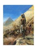 Building the Pyramids Giclee Print by Neville Dear