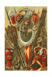 Polynesian Culture: Weapons and Designs Giclee Print by  North American