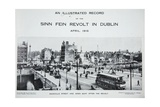Sackville Street and Eden Quay after the Revolt, from 'An Illustrated Record of the Sinn Fein… Giclee Print by  Irish Photographer