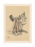 The Head and Neck. Internal Carotid and Ascending Pharyngeal Arteries, and Cranial Nerves in the… Giclee Print by G. H. Ford