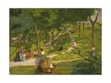 New York Park, 1912-18 Giclee Print by George Luks