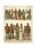 German Costume 1350-1400 Giclee Print by Albert Kretschmer