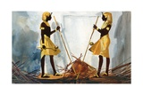 The Two Sentinels Guarding Tukankhamen's Tomb Giclee Print by Ferdinando Tacconi
