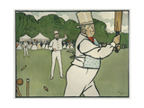 Old English Sports and Games: Cricket, 1901 Giclee Print by Cecil Charles Windsor Aldin