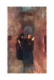 A Procession in the Catacomb of Callistus Giclee Print by Alberto Pisa