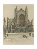 Bath Abbey Giclee Print by Cecil Charles Windsor Aldin
