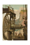 Agricola Directing the Mines of Freyberg Giclee Print by Josep or Jose Planella Coromina