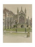 Winchester Cathedral Giclee Print by Cecil Charles Windsor Aldin