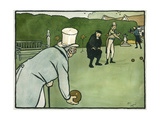 Old English Sports and Games: Bowls, 1901 Giclee Print by Cecil Aldin
