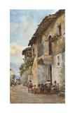 Old Houses, Taormina Giclee Print by Alberto Pisa