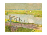 The Fence (May), The Lys, 1902 Giclee Print by Emile Claus
