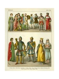 German Costume 1300-1350 Giclee Print by Albert Kretschmer