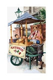 Victorian Ice-Cream Seller Giclee Print by Peter Jackson