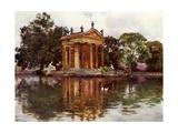 Ornamental Water, Villa Borghese Giclee Print by Alberto Pisa