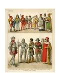 German Costume 1450-1500 Giclee Print by Albert Kretschmer