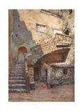 Cortile Palazzo Corvaia, Taormina Giclee Print by Alberto Pisa