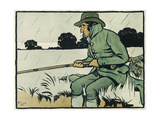 Old English Sports and Games: Angling, 1901 Giclee Print by Cecil Aldin
