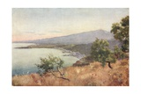 Etna, Giardini, and Schiso from Taormina Giclee Print by Alberto Pisa
