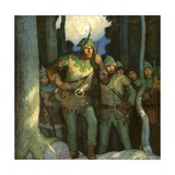 Robin Hood and His Merry Outlaws Giclee Print by Newell Convers Wyeth