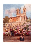 The 'Spanish Steps,' Piazza Di Spagna Giclee Print by Alberto Pisa