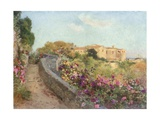 Convent of the Capuccini from Villa Politi, Syracuse Giclee Print by Alberto Pisa