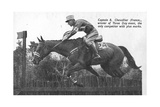 Captain B. Chevallier of France, Winner of the Gold Medal for the Three Day Event and the Only… Giclee Print