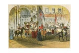 Queen Victoria's First Visit to the City (9 November 1837) Giclee Print by  English School