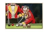 Guardsmen Playing Billiards Giclee Print by Angus Mcbride