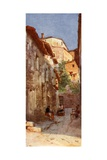 Village Street at Anticoli, in the Sabine Hills Giclee Print by Alberto Pisa