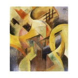 Small Composition I, 1913 Reproduction procédé giclée par Franz Marc