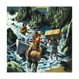 Cornish Smuggling Scene Giclee Print by  English School