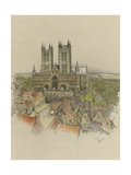 Lincoln Cathedral Giclee Print by Cecil Aldin