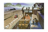 Shropshire Union Canal Giclee Print by Angus Mcbride