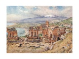 The Theatre, Taormina Giclee Print by Alberto Pisa