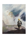 Wallace's Vision Giclee Print by Newell Convers Wyeth