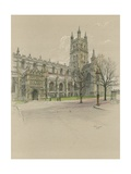 Gloucester Cathedral Giclee Print by Cecil Charles Windsor Aldin