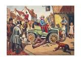 Motor Trip Giclee Print by Derek Charles Eyles