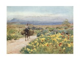 Spring at Syracuse. View of Etna and Thapsos from Site of Tyche Giclee Print by Alberto Pisa