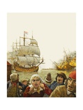 Dutch in the Medway Giclee Print by Kenneth John Petts