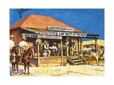 Judge Roy Bean Who Dispensed Tough Justice from His Saloon Giclee Print by Harry Green