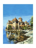 Chateau of Chillon Giclee Print by Harry Green