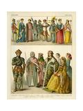 English Costume 1400-1450 Giclee Print by Albert Kretschmer