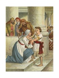 Jesus in the Temple Giclee Print by  English School