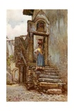 Roman Peasant Carrying Copper Water Pot Giclee Print by Alberto Pisa